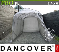 Portable Garage PRO 2.4x6.0x2.4 m PE, Grey