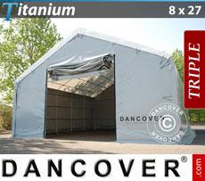 Storage shelter 8x27x3x5 Titanium