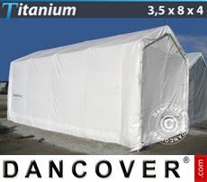 Boat Shelter Titanium 3.5x8x3x4 m, White