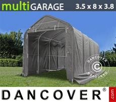 Storage shelter multiGarage 3.5x8x3x3.8 m, Grey