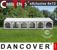 Marquee, Exclusive CombiTents® 6x12m 4-in-1, Grey/White