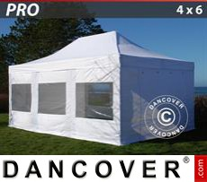 Marquee PRO 4x6 m White, incl. 8 sidewalls