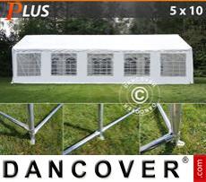 Marquee PLUS 5x10 m PE, White + Ground bar