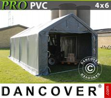 Storage shelter PRO 4x6x2x3.1 m, PVC, Grey