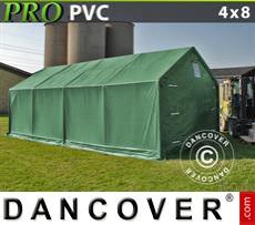 Storage shelter PRO 4x8x2x3.1 m, PVC, Green