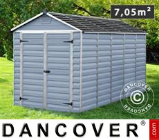 Polycarbonate Garden shed, SkyLight, 1.86x3.80x2.17 m, Anthracite