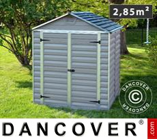 Polycarbonate Garden shed, SkyLight, 1.86x1.54x2.17 m, Anthracite