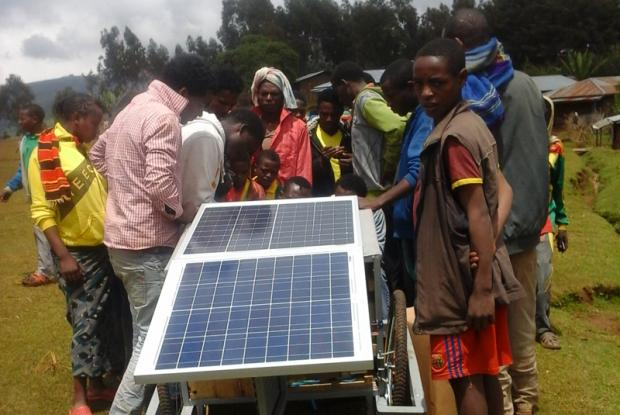 A mobile solar wagon, developed by students  of Arba Minch University.
