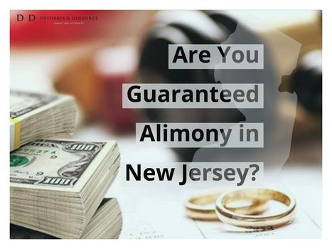 Are You Guaranteed Alimony in New Jersey?