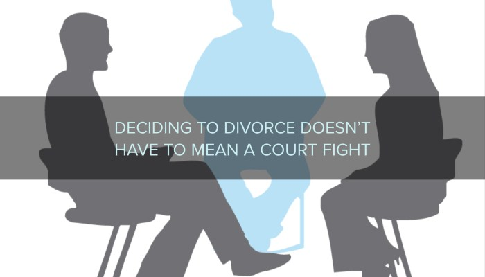 Deciding to Divorce Doesn't Have to Mean a Court Fight
