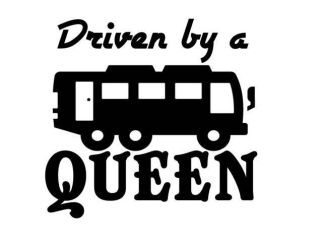 Driven by a Queen Decal
