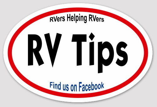 Official RV Tips Decal w/official members club card