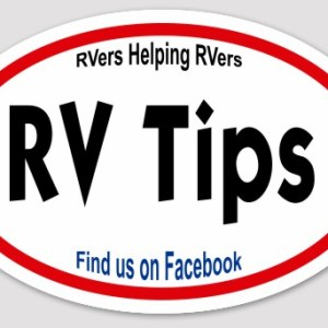 Official RV Tips decal