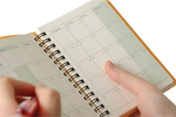 Time management planner calendar