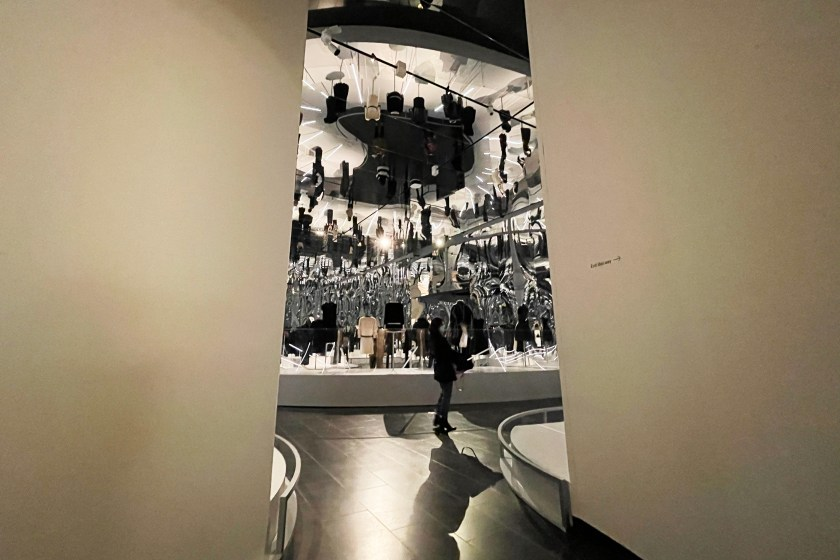 """photos of The Met """"About Time: Fashion and Duration"""" 2020 exhibit"""