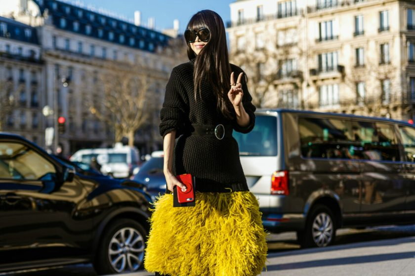 """""""extra"""" is what to wear to be on trend in fashion in August 2021 for work, party clothes or vacation, with fringe, feathers, tassels and shine."""