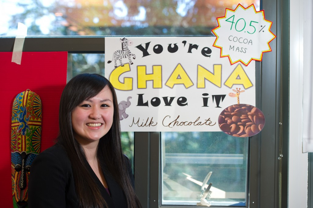 IAS Part Time Lecturer Kristy Leissle's class hosts the UW Bothell's first annual Chocolate Festival. The festival seeks to serve, educate, and explore the world of global chocolate.