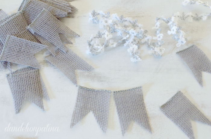 DIY banner with burlap
