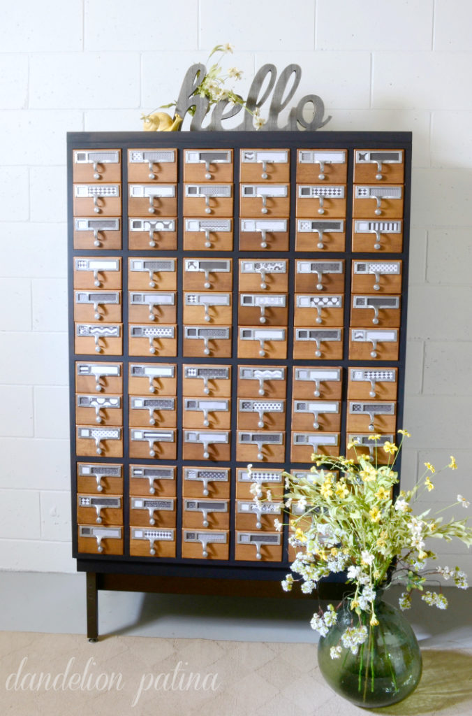 two tone painted card catalog