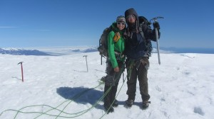 Eric and I at the summit of Hvannadalshnúkur, the tallest mountain in Iceland