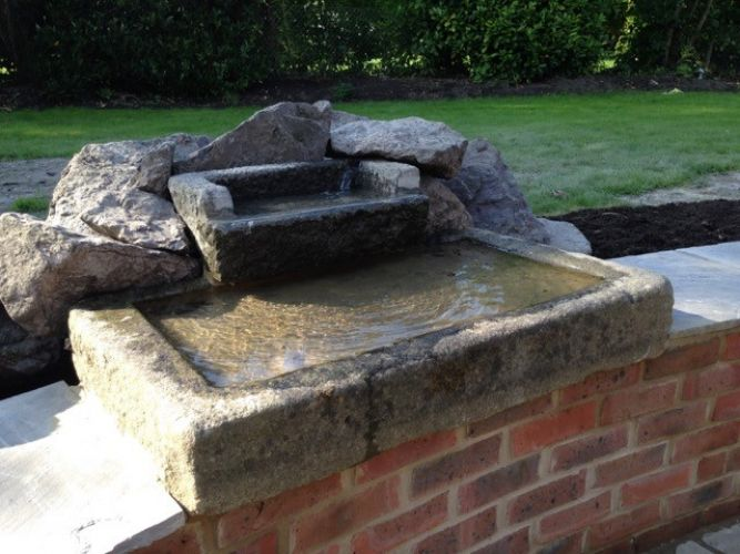 A Water Feature With DANDELION Troughs