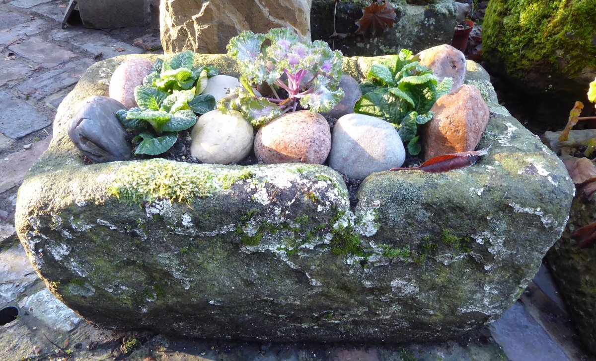 small Old York Stone Trough
