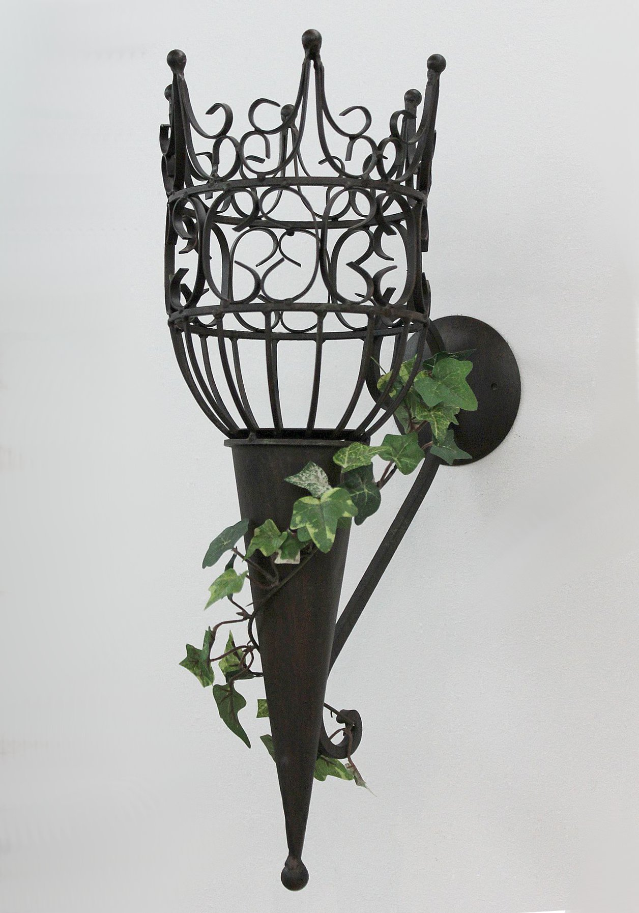 Sconce Castle 92066 Wall mounted candle holder metal ... on Wall Mounted Candle Sconce id=94631