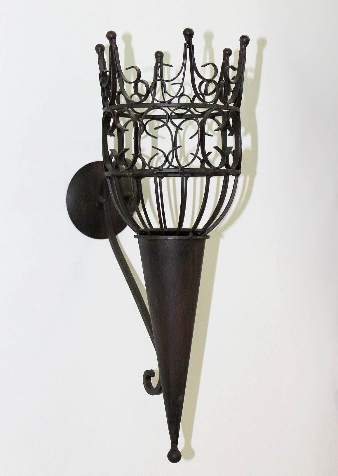 Sconce Castle 92066 Wall mounted candle holder metal ... on Wall Mounted Candle Sconce id=76529