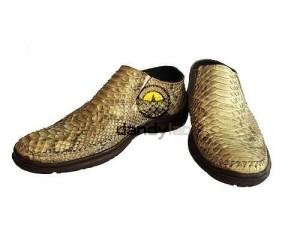 %name Мужские туфли из натуральной кожи питона