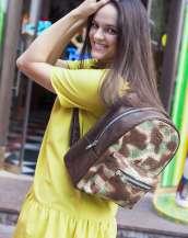 Армейский рюкзак из кожи питона
