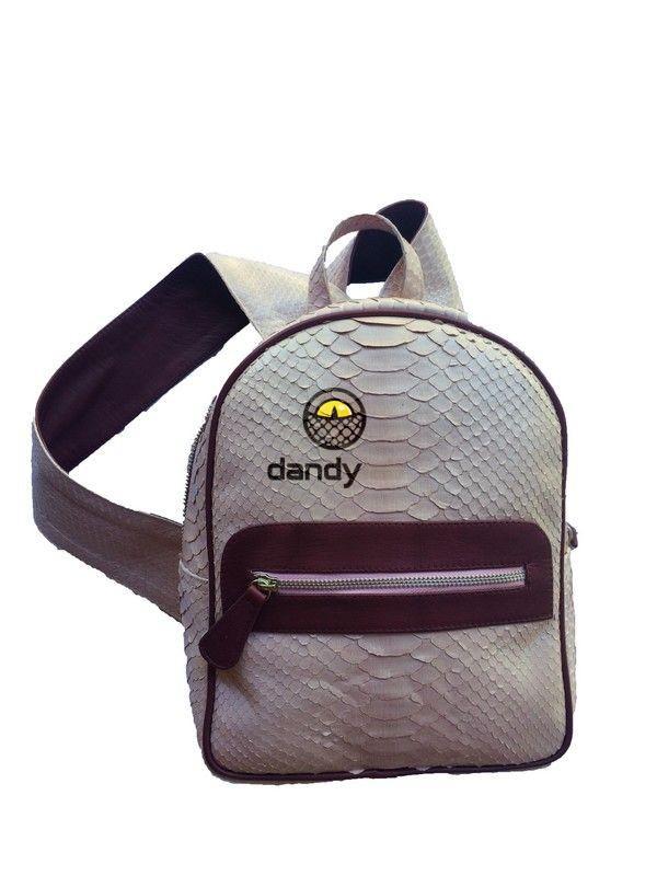 f88876a369b2 Стильный рюкзак из натуральной кожи питона — Dandy Lab Bali