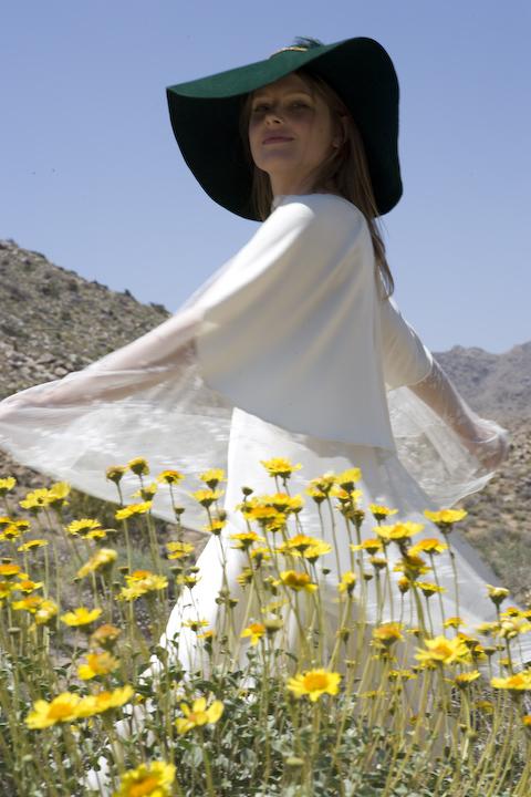 Green Hat Yellow Flowers and Miranda Lee Richards