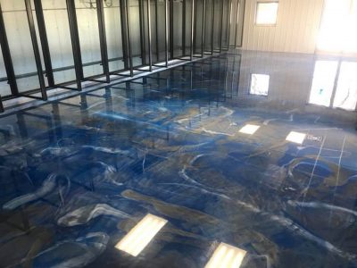 metallic epoxy reflector enhanced flooring by elite crete