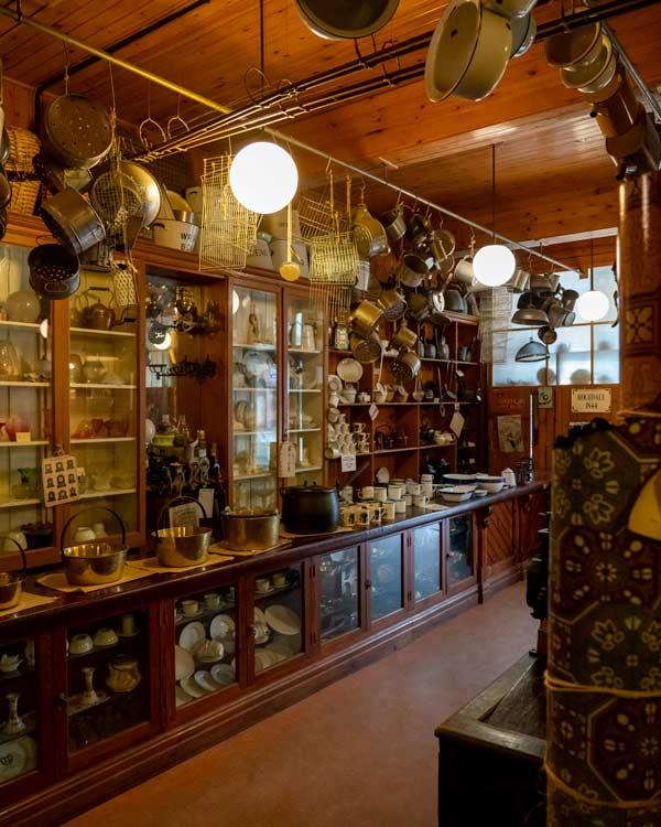 Inside at shop at Beamish Museum