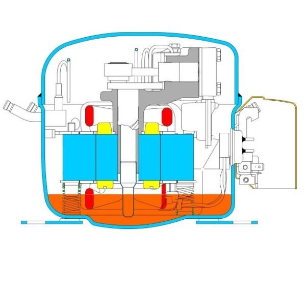 lbp1 1 - Компрессор Danfoss TL4CL (R404A/R507, 220-240 В, 50 Гц)