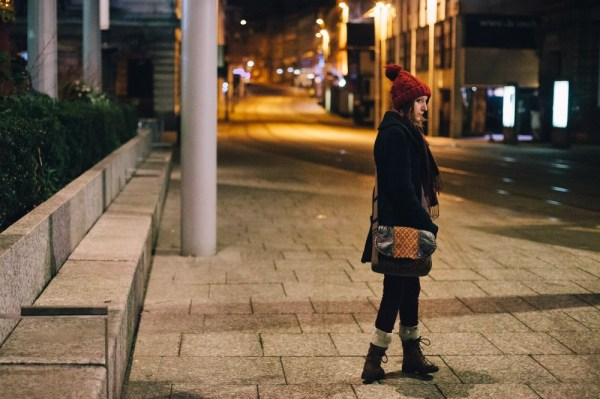 Kat at the Old Market Square, Nottingham, January 2013