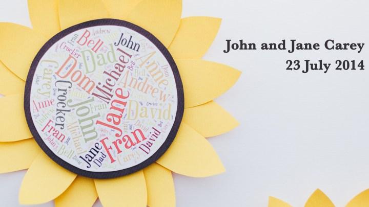 John and Jane Carey's Wedding