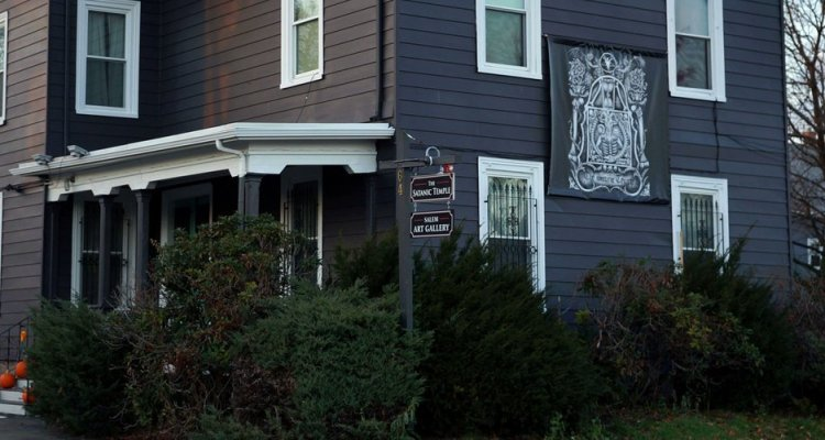 "This recent undated handout photograph obtained April 26, 2019 courtesy of The Satanic Temple (TST) shows the Satanic Temple in Salem, Massachusetts. - Earlier this week the Satanic Temple was allowed recognition as a legally protected Satanic church, receiving tax exempt status from the United States Internal Revenue Service. The facility's website says ""this status, elevated beyond previous designation as a religious non-profit, is a culmination of years establishing itself as a constitutionally protected class, completely encompassing all attributes designated to churches that are uniquely distinct from other charities and/or religious groups."" (Photo by Handout / TST (The Satanic Temple) / AFP) / == RESTRICTED TO EDITORIAL USE  / MANDATORY CREDIT:  ""AFP PHOTO /  The Satanic Temple (TST)"" / NO MARKETING / NO ADVERTISING CAMPAIGNS /  DISTRIBUTED AS A SERVICE TO CLIENTS  =="