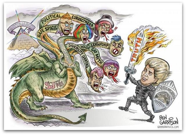 Milo Yiannopoulos Ben Garrison artwork