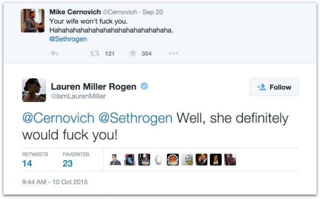 Seth Rogen wife Mike Cernovich .22 AM