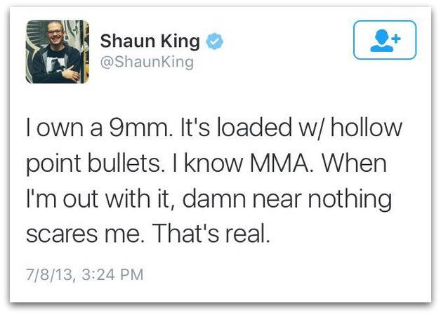 I own a 9mm Shaun King guns