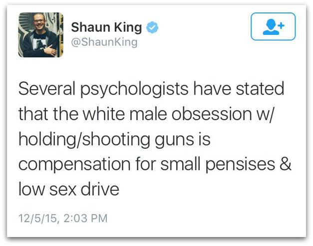 Shaun King guns small white penis
