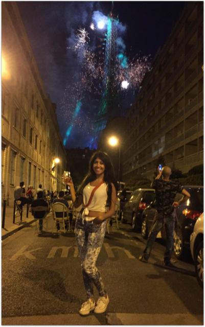 Bastille Day fireworks Eiffel Tower Paris