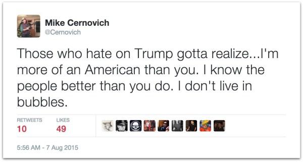 Trump real American