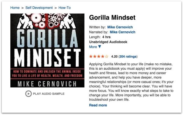Gorilla Mindset audiobook.36 PM