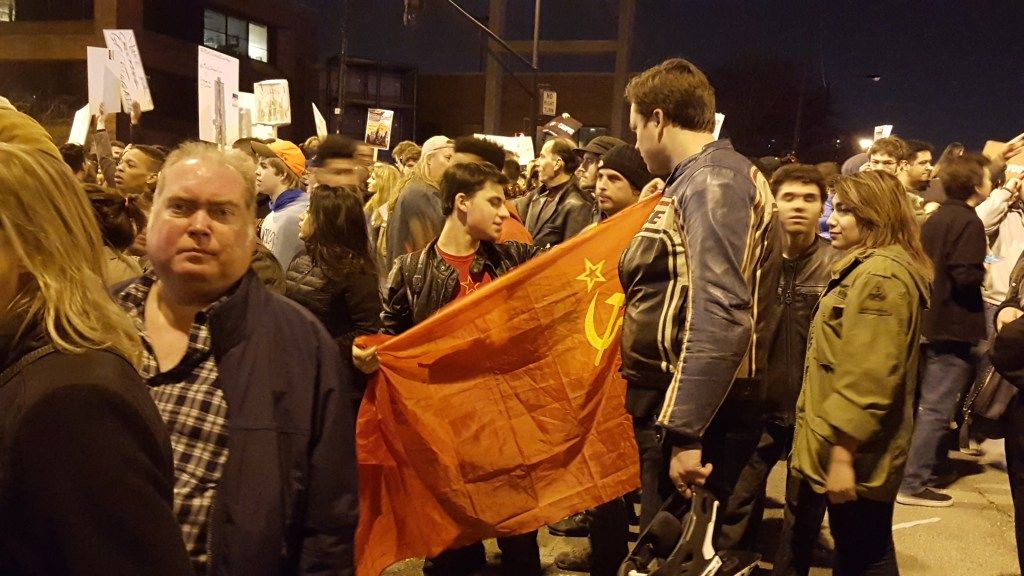 Chicago Trump Rally Soviet Flag