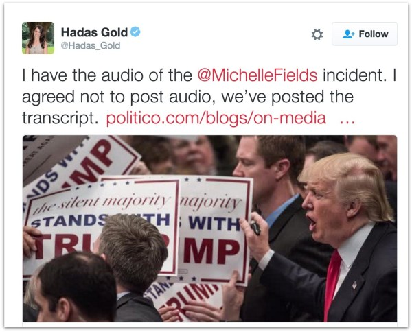 Michelle Fields audio transcript.00 PM