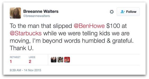 Ben Howe ex wife divorce starbucks