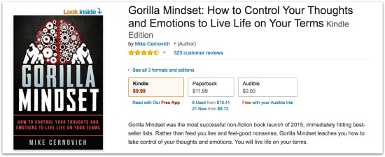 Gorilla Mindset reviews on Amazon.05 AM