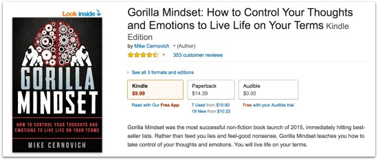 Gorilla Mindset by Mike Cernovich five star amazon reviews.49 PM